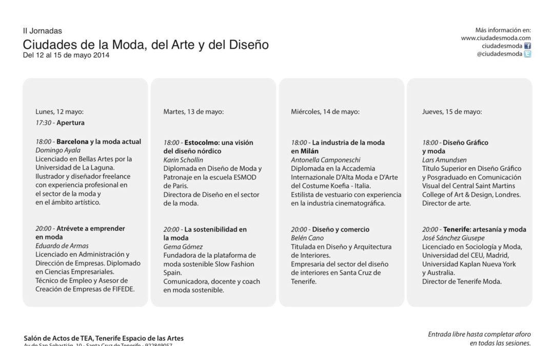 """Curso """"II JORNADAS DE CIUDADES DE LA MODA, DEL ARTE Y DEL DISEÑO"""", 12-15 de mayo"""