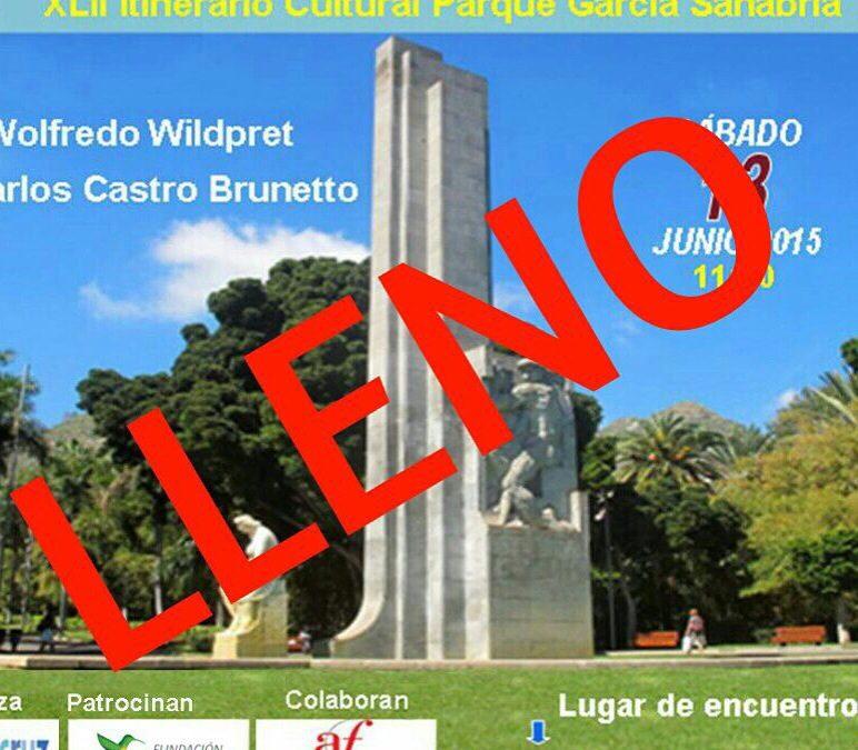 XLII Itinerario Cultural Parque García Sanabria LLENO