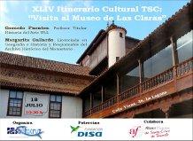 """XLIV Itinerario TuSantaCruz """"Visita al Museo de Las Claras"""""""