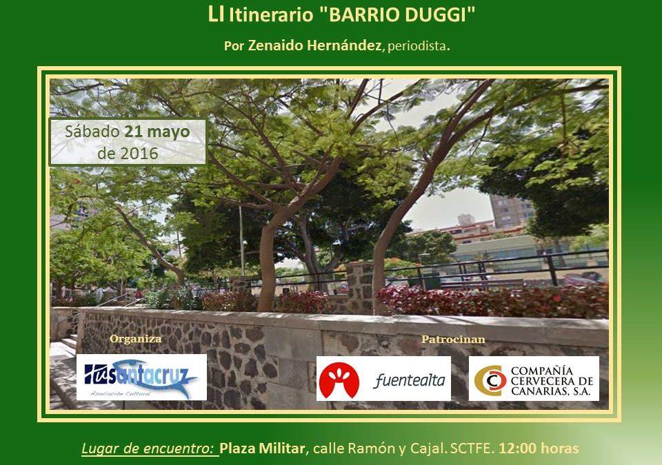 """LI Itinerario Cultural """"Barrio Duggi"""", Sábado 21 de mayo 12:00H D. Zenaido Hernández Cabrera. Licenciado en Ciencias Agrícolas y Periodista."""