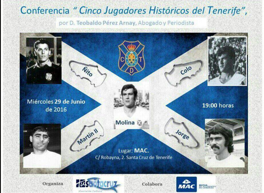 Cinco jugadores históricos del C.D. Tenerife