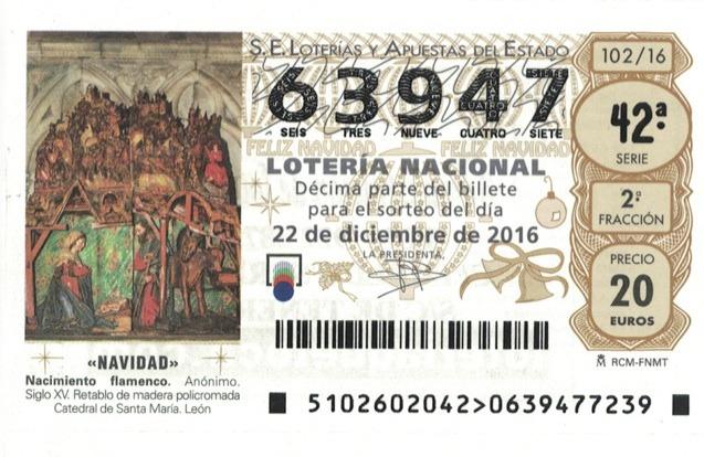 Número de Lotería de Navidad