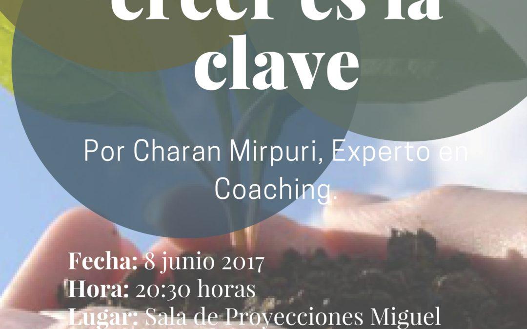 """Conferencia """"Creer o no creer, esa es la clave"""" Charan Murpuri 8 junio 20,30"""
