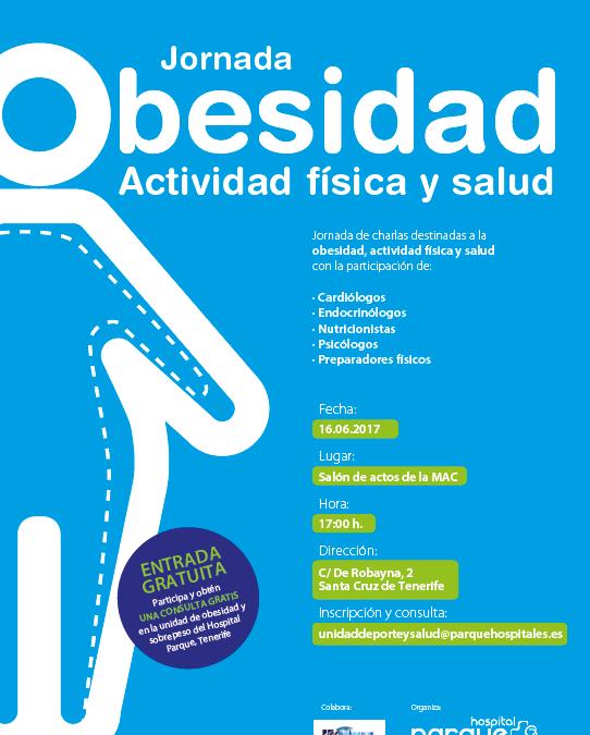 """Jornada """"Obesidad, actividad física y salud"""" Hospital Clínica Parque viernes 16 junio 17h en la MAC"""