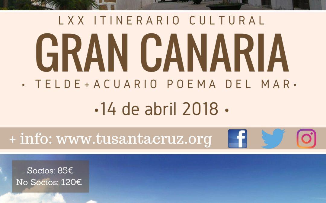 """LXX Itinerario Cultural """"Gran Canaria. Telde+ Acuario Poema del Mar"""". Sábado 14 abril 2018."""