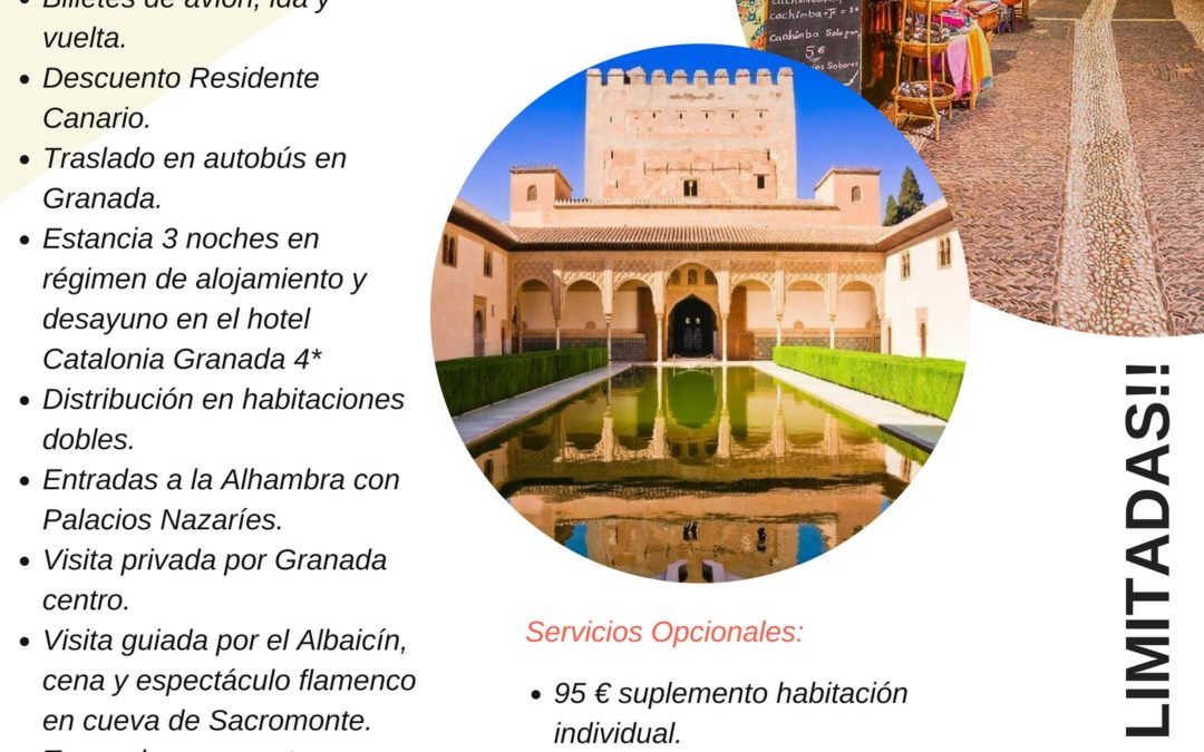 "LXXIV Itinerario Cultural ""Granada"" 20 al 23 de septiembre de 2018"