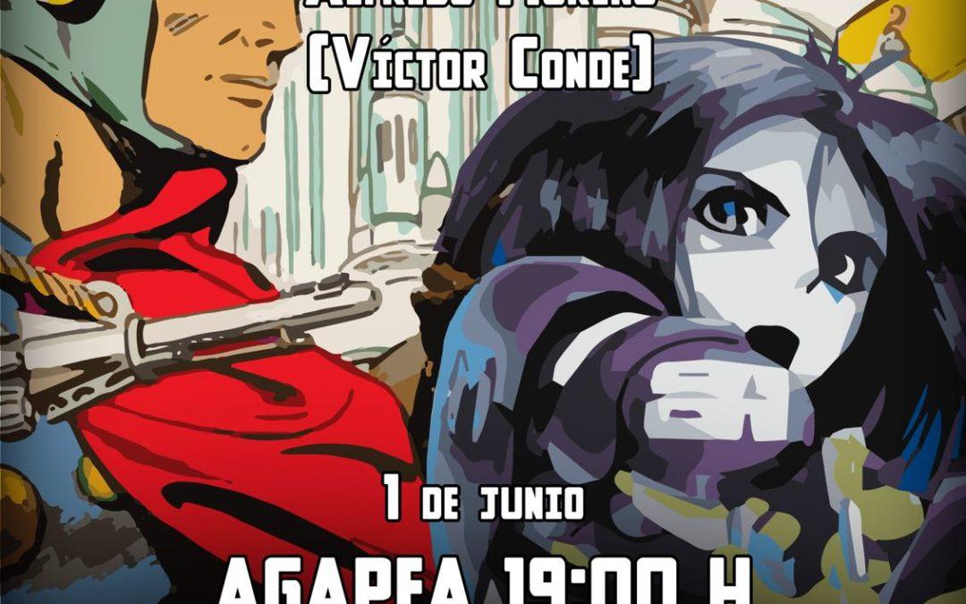 """Conferencia """"Los cómics y la ciencia ficción"""" por Alfredo Moreno (Víctor Conde) Librería Agapea, viernes 1 junio 19 h"""
