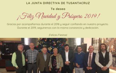 ¡Feliz Navidad y Próspero 2019!