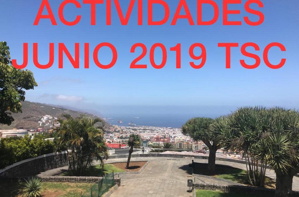 ACTIVIDADES MES DE JUNIO 2019 TuSantaCruz.