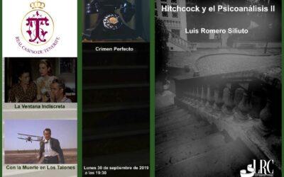 Segunda Conferencia sobre HITCHCOCK, Real Casino, lunes 30 septiembre 19:30 h.