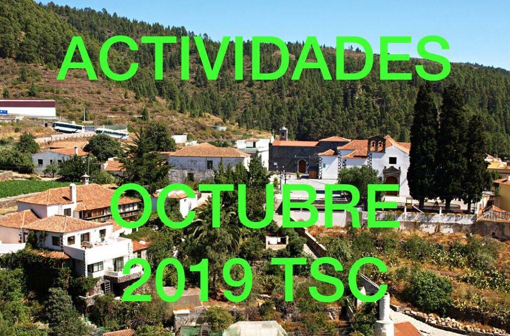Actividades MES de OCTUBRE de 2019 TuSantaCruz.