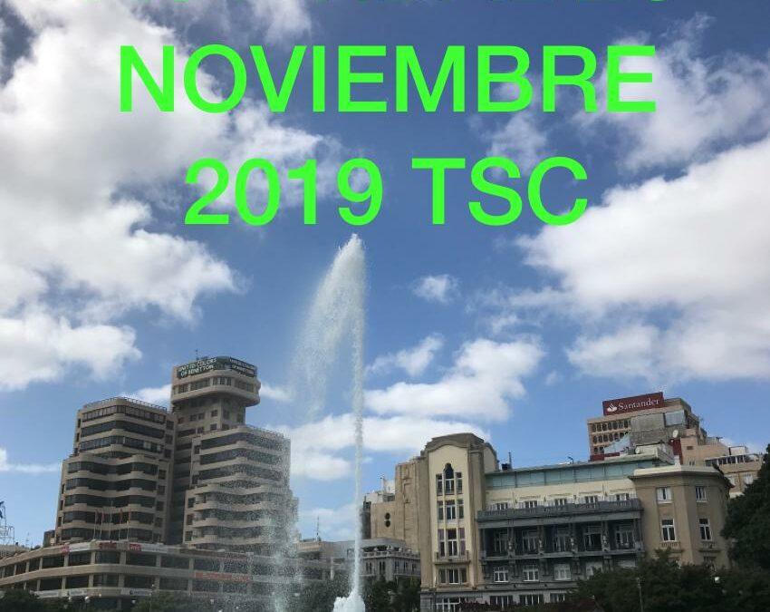 Actividades MES de NOVIEMBRE de 2019 TuSantaCruz.