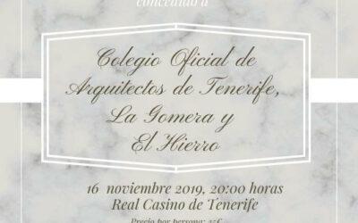 Premio TuSantaCruz 2019 sábado 16 Noviembre 2019 a las 20:00 horas en el Real Casino de Tenerife.